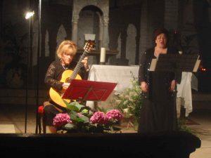 Chitarra Carla Tessari, soprano Lia Lanteri Pieve di San Giorgio Inganapoltron, 14 giugno 2007
